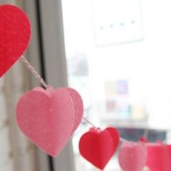 ชุดธงปาร์ตี้-Love ทรงหัวใจ 3 มิติ