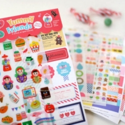 สติ๊กเกอร์ชุด : Yummy Friends Deco Sticker