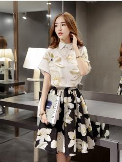 แฟชั่นเกาหลีมาใหม่ set เสื้อและกระโปรง สวยมากๆ
