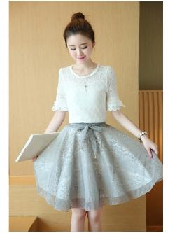 แฟชั่นเกาหลี set เสื้อ และกระโปรงน่ารักมากๆ ครับ