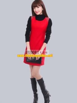 Pre-Order ชุดราตรีสั้น ชุดเดรสสั้น Brand Fu daiyi สีแดง-สีดำ แขนกุด ผ้าฝ้ายระบายความร้อนได้ดีครับ สวยมากๆ เหมาะใส่เป็นชุดออกงาน ชุดไปงานแต่งงาน ชุดเพื่อนเจ้าสาว
