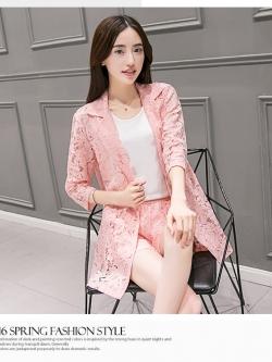 แฟชั่นเกาหลี set 3 ชิ้น สูท เสื้อตัวในสีขาว และกางเกง สวยมากๆ ครับ