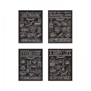 Tin Recipes For Love & Happiness Wall Décor, 4 Styles