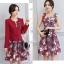 เดรสแฟชั่น Set เสื้อสูท และเดรสสีแดงเข้ม แฟชั่นเกาหลีมาใหม่ thumbnail 4