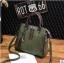 พร้อมส่ง ขายส่ง กระเป๋าถือและสะพายข้างแฟชั่นสไตล์เกาหลี รหัส KO-697 สีเขียว 1 ใบ *แถมจี้รูปแมว thumbnail 2