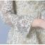 ชุดเดรสลูกไม้ ผ้าเนื้อดีแขนยาว ลายผ้าลูกไม้สวยไม่ซ้ำใครครับ โทนสีเขียวอมครีม thumbnail 12