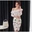 แฟชั่นเกาหลี set เสื้อและกระโปรงสวยมากๆ ครับ เสื้อผ้าโพลีเอสเตอร์ผสมสีขาว ดีไซน์เก๋ thumbnail 2
