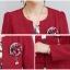 เดรสแฟชั่น Set เสื้อสูท และเดรสสีแดงเข้ม แฟชั่นเกาหลีมาใหม่ thumbnail 10