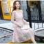 ชุดเดรสลูกไม้ สีชมพู ดีไซน์สวยมากๆ ครับไหล่และช่วงเอวคาดด้วยผ้าริบบิ้นไขว์กัน thumbnail 9