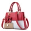 พร้อมส่ง กระเป๋าผู้หญิงถือเย็บสลับสี กระเป๋าผู้ใหญ่ถือออกงานแต่งโบว์ห้อย เย็บสลับสี รหัสYi-4217 สีชมพู 1 ใบ thumbnail 38