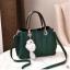พร้อมส่ง กระเป๋าถือและสะพายข้าง ผู้หญิงวัยผู้ใหญ่ แฟชั่นเกาหลี รหัส KO-804 สีเขียว 2 ใบ *แต่งจี้จิ้งจอก thumbnail 1