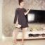 มินิเดรส ผ้าโพลีเอสเตอร์ผสม สีดำ ช่วงไหล่เป็นผ้าซีทรู แขนยาว แหวกแขนเสื้อด้านในขึ้นสูงเหมือนแบบ thumbnail 7