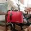 พร้อมส่ง ขายส่งกระเป๋าผู้หญิง แฟชั่นเกาหลี ถือและสะพายข้าง แต่งจี้ดาว KO-714 สีแดง 1 ใบ thumbnail 2