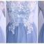 ชุดราตรียาว ใส่ออกงานสุดหรู คอวี แขนยาวสามส่วน ตัวเสื้อด้านนอกสุดเป็นผ้าโปร่งสีฟ้า thumbnail 4