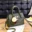 พร้อมส่ง กระเป๋าถือสตรีและสะพายข้าง แฟชั่นเกาหลี รหัส KO-1703 สีเขียว 1 ใบ*แถมป๋อม 3 สี thumbnail 1
