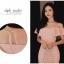 ชุดเดรสสวยๆ ผ้าโพลีเอสเตอร์ผสมสีชมพูโอรส ช่วงอกเป็นผ้าโปร่ง เปิดไหล่ ปิดต้นแขน thumbnail 2