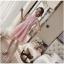 ชุดเดรสไปงาน ตัวชุดด้านนอกเป็นผ้าโปร่งปักด้ายสีชมพู ลวดลายตามแบบ thumbnail 6