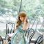 ชุดเดรสเกาหลี ผ้าซาตินเนื้อนิ่ม เงาสวย แขนกุด พื้นสีเขียว พิมพ์ลายดอกไม้โทนสีขาว เดรสเข้ารูปช่วงเอว thumbnail 15