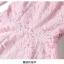 ชุดเดรสลูกไม้ ผ้าเนื้อดีสีชมพูตุ่น ลายของผ้าลูกไม้ตามแบบ คอวี แขนยาวห้าส่วน thumbnail 9