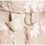ชุดเดรสลูกไม้ ผ้าเนื้อนุ่มลายดอกไม้สีครีม แขนยาวห้าส่วน เข้ารูปช่วงเอว กระโปรงทรงเอ thumbnail 13