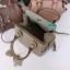 พร้อมส่ง MB-2921-A สีเทาครีม กระเป๋าแฟชั่นสไตล์ HM-toolbox-20 อะไหล่สีเงินพร้อมแต่งแม่กุญแจ thumbnail 4
