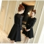 ชุดเดรสสีดำ เดรสผ้าคอตตอนผสม spandex สีดำ ผ้ายืดหยุ่นได้ดีทิ้งตัวสวย แขนยาว thumbnail 4
