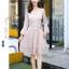 ชุดเดรสลูกไม้ สีชมพู ดีไซน์สวยมากๆ ครับไหล่และช่วงเอวคาดด้วยผ้าริบบิ้นไขว์กัน thumbnail 7