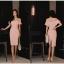 ชุดเดรสสวยๆ ผ้าโพลีเอสเตอร์ผสมสีชมพูโอรส ช่วงอกเป็นผ้าโปร่ง เปิดไหล่ ปิดต้นแขน thumbnail 5