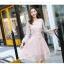 ชุดเดรสลูกไม้ สีชมพู ดีไซน์สวยมากๆ ครับไหล่และช่วงเอวคาดด้วยผ้าริบบิ้นไขว์กัน thumbnail 11