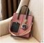 พร้อมส่ง กระเป๋าถือและสะพายข้าง ผู้หญิง แฟชั่นเกาหลี รหัส Yi-0201 สีชมพู 1 ใบ *แถมป๋อมหมี thumbnail 2