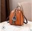 พร้อมส่ง กระเป๋าเป้ใบเล็ก ทรงหลังเต่า แฟชั่นสไตล์เกาหลี Yi-1001 สีน้ำตาลส้ม 2 ใบ *แถมจี้ป๋อม thumbnail 1