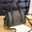 Pre-order ขายส่ง กระเป๋าถือและสะพายข้างสตรี เรียบหรู แต่งสายคาดคู่ แฟชั่นเกาหลี รหัส KO-500 สีเขียว thumbnail 1