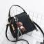 Pre-order กระเป๋ากระเป๋าถือสะพายข้างใบเล็ก แฟชั่นเกาหลี รหัส KO-146 สีดำ *แถมจี้หมีน้ำตาล thumbnail 4