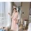 ชุดเดรสแฟชั่น set เสื้อและเดรสสีชมพูนู้ด ตัวเสื้อด้านนอกเป็นผ้าลูกไม้ถักโครเชต์ แขนยาวสี่ส่วน thumbnail 6