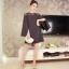มินิเดรส ผ้าโพลีเอสเตอร์ผสม สีดำ ช่วงไหล่เป็นผ้าซีทรู แขนยาว แหวกแขนเสื้อด้านในขึ้นสูงเหมือนแบบ thumbnail 6