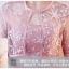 ชุดออกงานสีชมพูเข้ม สุดหรู set เสื้อคลุมแขนยาวสามส่วน และเดรสเกาะอก thumbnail 5
