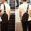 Pre-order กระเป๋าหนังคาดอก คาดไหล่ สะพายไหล่ ใส่ ipad 8 นิ้ว ผู้ชายแฟชั่นเกาหลี รหัส Man-6039 สีดำ thumbnail 2