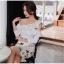 แฟชั่นเกาหลี set เสื้อและกระโปรงสวยมากๆ ครับ เสื้อผ้าโพลีเอสเตอร์ผสมสีขาว ดีไซน์เก๋ thumbnail 8