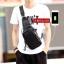 Pre-order กระเป๋าผู้ชายคาดไหล่ แฟขั่นเกาหลี ใส่ ipad 7.9 นิ้ว รหัส Man-2090-USB สีดำ thumbnail 1