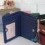 พร้อมส่ง รหัส L355-10 สีน้ำเงิน กระเป๋าสตางค์ Forever young 2 พับสั้นแต่งป้ายโลโก้สีทอง thumbnail 2