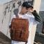 Pre-order กระเป๋าเป้สะพายหลัง ผู้ชายกันน้ำได้ แฟชั่นเกาหลี หนัง PU รหัส Man-6536 สีน้ำตาล thumbnail 1