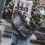 Pre-order กระเป๋าผู้ชาย สะพายข้างทรงครึ่งแตงโมใส่ Tab 10 นิ้วแฟขั่นเกาหลี รหัส Man-9866 สีดำ thumbnail 1
