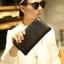 Pre-order กระเป๋าสตางค์ใบยาวผู้ชาย ใส่บัตรได้เพียบ ปิดด้วยซิป แฟขั่นเกาหลี รหัส Man-QB117-7 สีดำ thumbnail 1