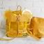 พร้อมส่ง HB-5353-สีเหลือง กระเป๋าเป้พลาสติกใส-Mickey-design-พร้อมใบเล็กด้านใน thumbnail 3