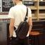 Pre-order กระเป๋าหนังคาดอก คาดไหล่ สะพายไหล่ ใส่ ipad 8 นิ้ว ผู้ชายแฟชั่นเกาหลี รหัส Man-6039 สีดำ thumbnail 1