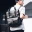 Pre-order กระเป๋าเป้สะพายหลัง เป้นักศึกษาผู้ชายกันน้ำได้ แฟชั่นเกาหลี หนัง PU รหัส Man-6526 สีดำ thumbnail 1