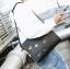 Pre-order กระเป๋าถือและสะพายข้าง แฟชั่นเกาหลี รหัส Man-8890 สีดำ thumbnail 2