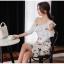 แฟชั่นเกาหลี set เสื้อและกระโปรงสวยมากๆ ครับ เสื้อผ้าโพลีเอสเตอร์ผสมสีขาว ดีไซน์เก๋ thumbnail 9