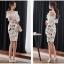 แฟชั่นเกาหลี set เสื้อและกระโปรงสวยมากๆ ครับ เสื้อผ้าโพลีเอสเตอร์ผสมสีขาว ดีไซน์เก๋ thumbnail 7