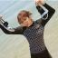 ชุดว่ายน้ำทูพีช แบบสปอร์ต แขนยาว ขายาว ตัวเสื้อพิมพ์ลายตามแบบ ชายปล่อย thumbnail 3